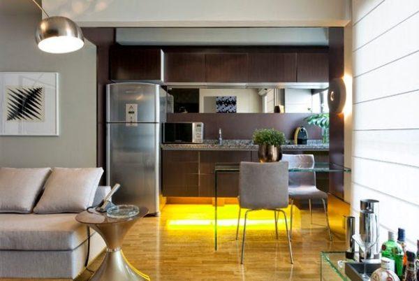 apartamento 37m sala pequena integrada cozinha