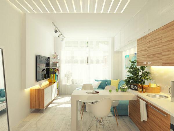 apartamento pequeno moderno decorado
