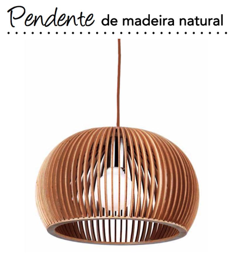 decoracao pendente madeira natural mesa jantar