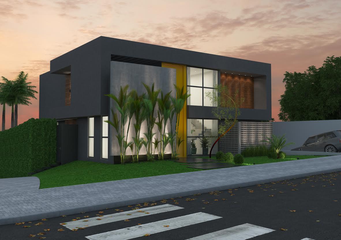 Fachada de casa linda e moderna #9A6431 1182 835