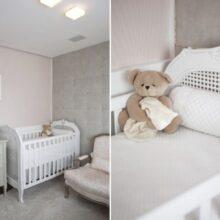 Quarto de bebê menina – rosa e cinza