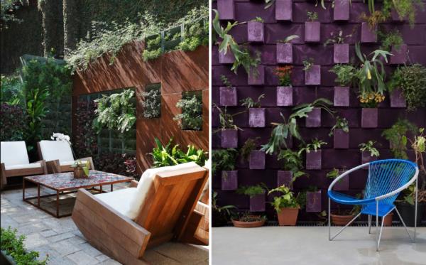 ideias para decorar o muro com plantas