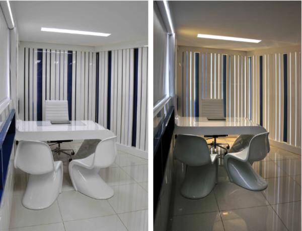 iluminacao diferenca entre luz fria e luz quente