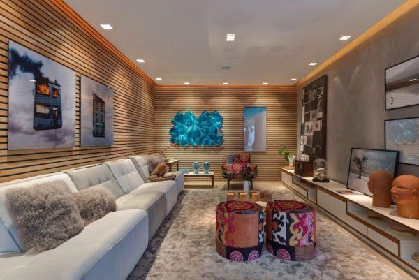 paredes madeira ripada decoracao sala 2016