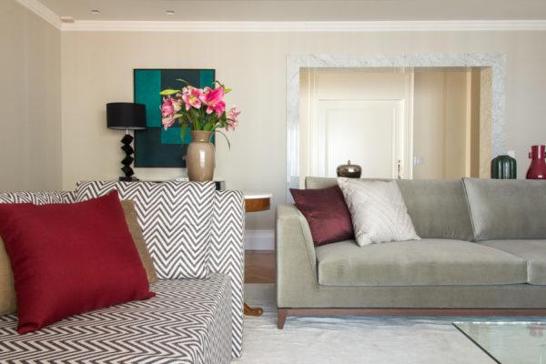 sala linda decoracao cores da moda