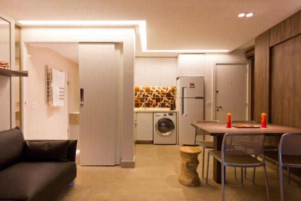 apartamento multifuncional portas de correr