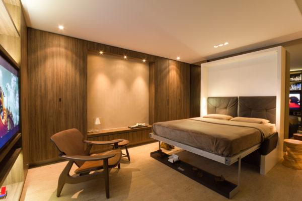 apartamento multifuncional sala se transforma em quarto