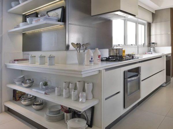 cozinha moderna fernanda marques prateleiras