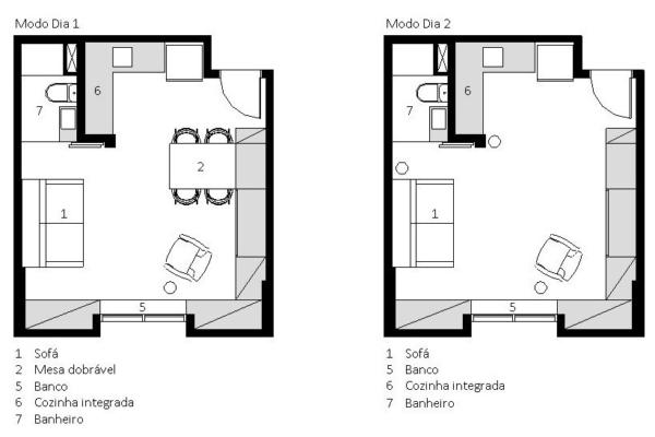 planta baixa apartamento pequeno modo dia