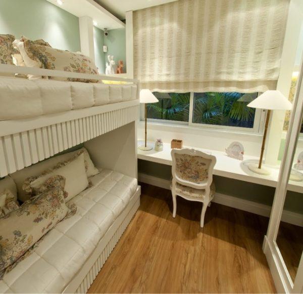 quartos com beliche de laca branca
