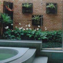 Banheiros com jardim