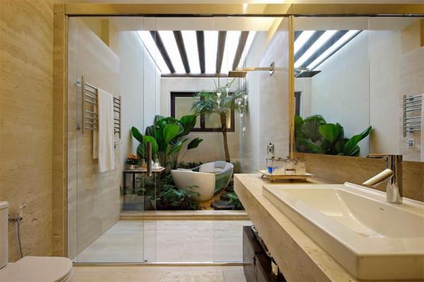 banheiros com jardim decoracao assim eu gosto