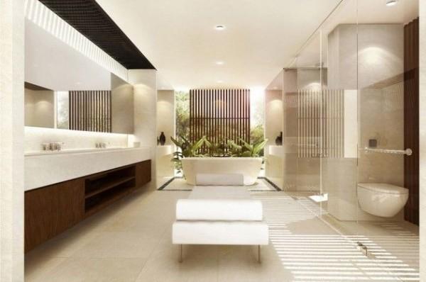 banho casal moderno jardim inverno lindo