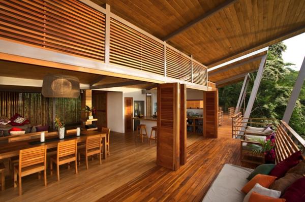 casa linda piso integrado taco ripa tabua madeira porta camarao