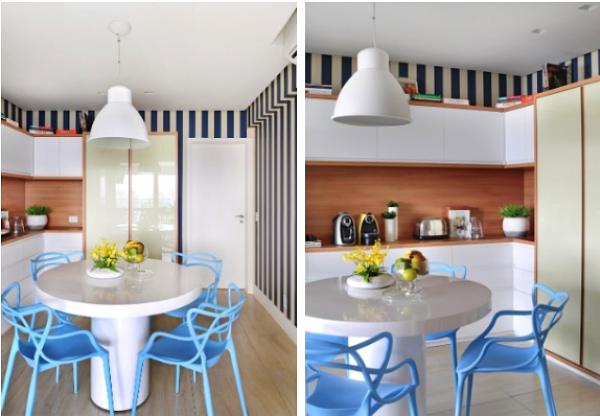 copa papel de parede azul branco listras cadeira masters
