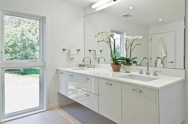decoracao banheiros brancos armario laca