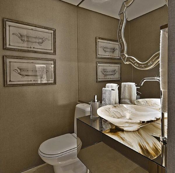 lavabo espelho veneziano parede befe cuba marmore onix