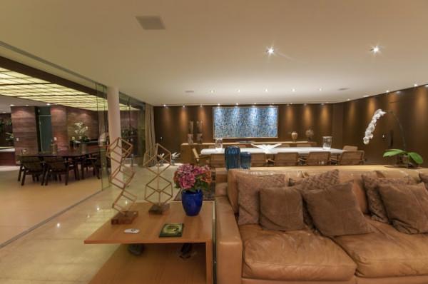 projeto casa grande moderna atual chique integrada esquadria vidro