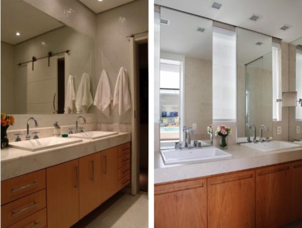 banheiros com cubas embutidas semiencaixe deca louca branca