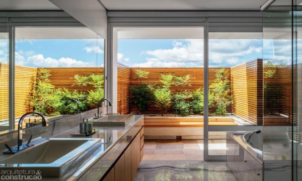 banheiros com jardim em casa