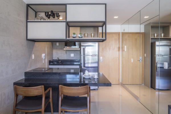 cozinha aberta apartamento pequeno Carpaneda Nars