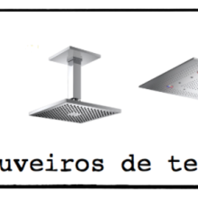 Banheiros com chuveiro de teto