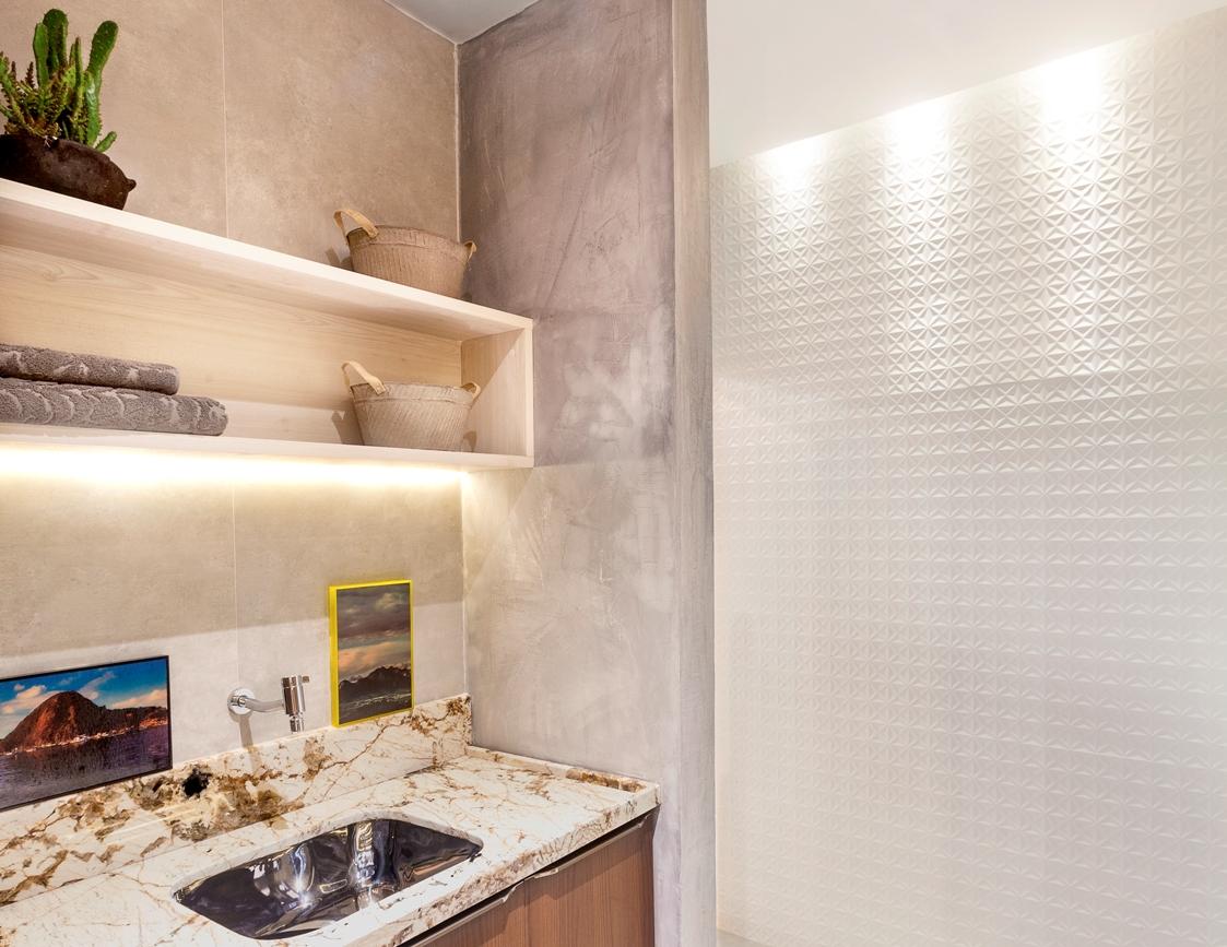 apartamento parede textura 3d biancogres