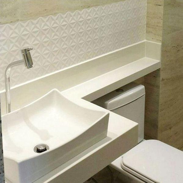 banheiro marmore travertino textura branca