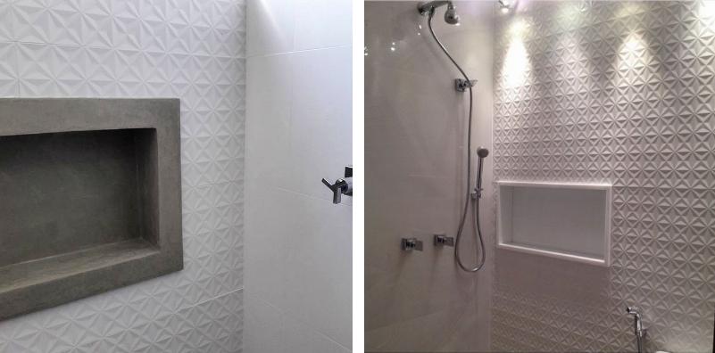 banheiro parede textura revestimento 3d biancogres