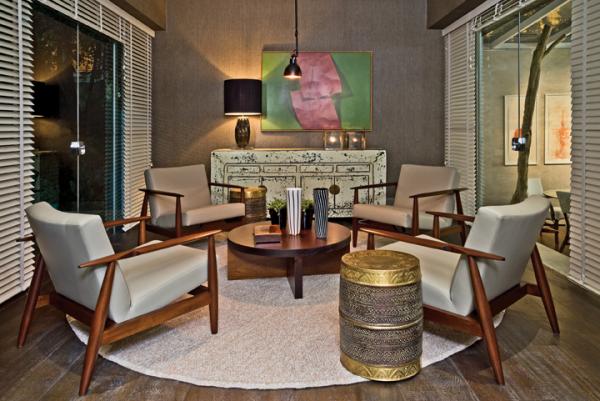 tapete redondo mesa baixa garden seat metal dourado